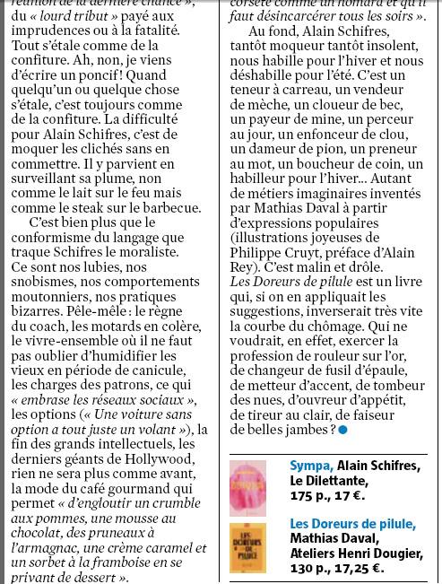 Bernard Pivot in Le Journal du Dimanche (20/06/2016)